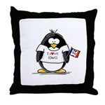 Iowa Penguin Throw Pillow