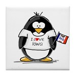 Iowa Penguin Tile Coaster