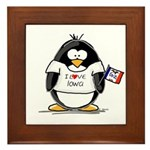 Iowa Penguin Framed Tile