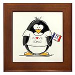 Iowa Penguin Framed Tile