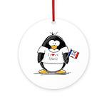Iowa Penguin Ornament (Round)