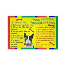 Bull Terrier Property Laws 1 (WhtBlk) Rectangle Ma