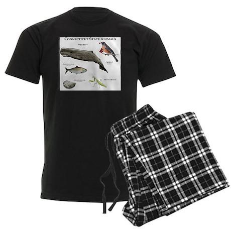 Connecticut State Animals Men's Dark Pajamas