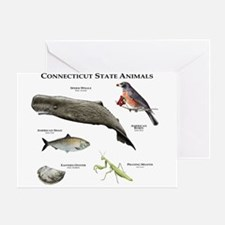 Connecticut State Animals Greeting Card