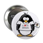 Illinois Penguin Button