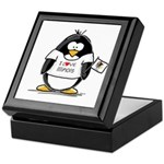 Illinois Penguin Keepsake Box