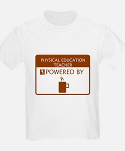 Physical Education Teacher Powered by Coffee T-Shirt