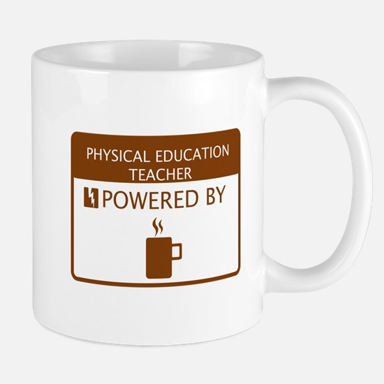 Physical Education Teacher Powered by Coffee Mug