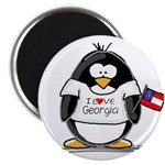 Georgia Penguin Magnet