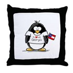 Georgia Penguin Throw Pillow