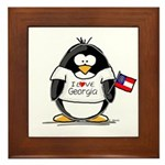 Georgia Penguin Framed Tile