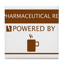 Pharmaceutical Rep Powered by Coffee Tile Coaster