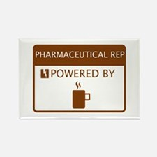 Pharmaceutical Rep Powered by Coffee Rectangle Mag