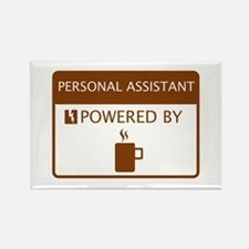 Personal Assistant Powered by Coffee Rectangle Mag