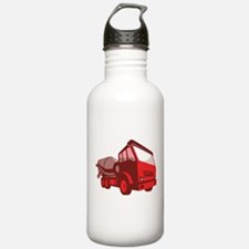 cement truck lorry retro style Water Bottle