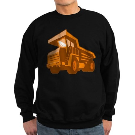 mining truck low angle retro style Sweatshirt (dar