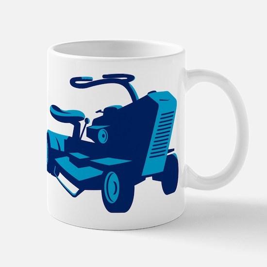 vintage ride on lawn mower retro Mug