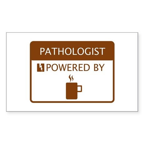 Pathologist Powered by Coffee Sticker (Rectangle)