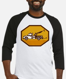 vintage tow wrecker truck side view retro Baseball