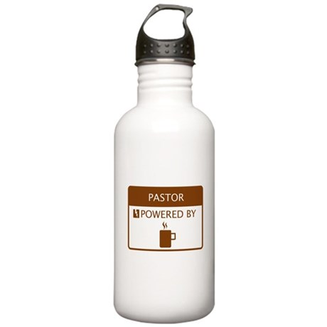 Pastor Powered by Coffee Stainless Water Bottle 1.