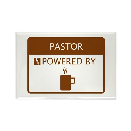 Pastor Powered by Coffee Rectangle Magnet