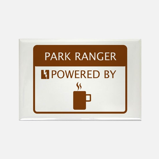 Park Ranger Powered by Coffee Rectangle Magnet