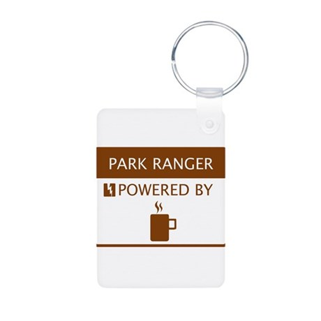 Park Ranger Powered by Coffee Aluminum Photo Keych