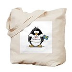 Delaware Penguin Tote Bag