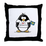 Delaware Penguin Throw Pillow