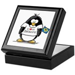 Delaware Penguin Keepsake Box