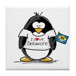 Delaware Penguin Tile Coaster