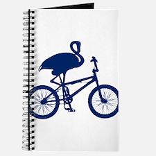 Dark Blue Flamingo on Bicycle Journal