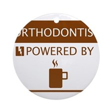 Orthodontist Powered by Coffee Ornament (Round)