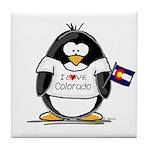 Colorado Penguin Tile Coaster