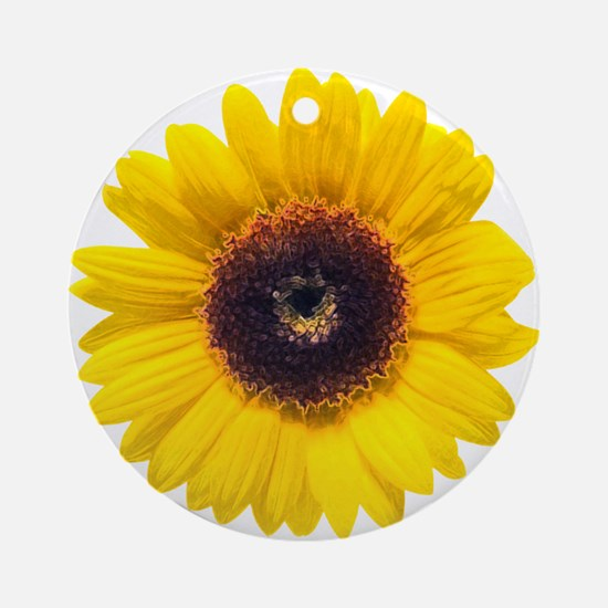 Sunflower Ornament (Round)