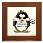 California Penguin Framed Tile