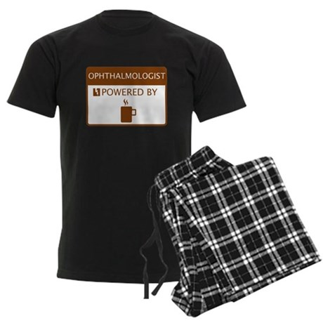 Ophthalmologist Powered by Coffee Men's Dark Pajam