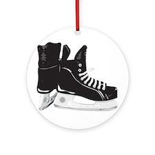 Hockey Skates Ornament (Round)