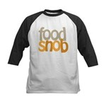 Food Snob Kids Baseball Jersey