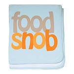 Food Snob baby blanket