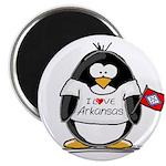 Arkansas Penguin Magnet