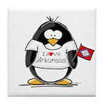 Arkansas Penguin Tile Coaster