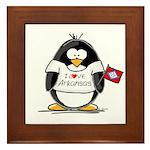 Arkansas Penguin Framed Tile