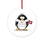 Arkansas Penguin Ornament (Round)