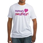 Mommy's Sweetheart Fitted T-Shirt