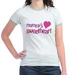 Mommy's Sweetheart Jr. Ringer T-Shirt