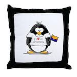 Arizona Penguin Throw Pillow
