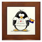Arizona Penguin Framed Tile