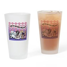 Miracles with paws Drinking Glass