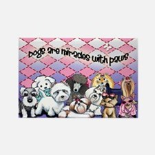 Miracles with paws Rectangle Magnet